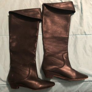 Women's Knee Length Frye Leather Boots Size 7